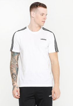 adidas Performance - ESSENTIALS SPORTS SHORT SLEEVE TEE - Camiseta estampada - white/black