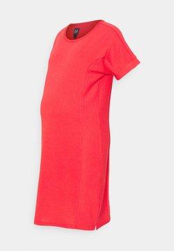 GAP Maternity - ROLL CUFF ZIP ACCESS NURSING DRESS - Sukienka dzianinowa - rose bush