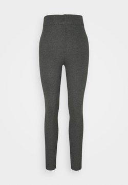 Even&Odd - HIGH WAISTED RIBBED LEGGINGS - Leggings - mottled dark grey