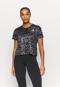 adidas Performance - PRIMEBLUE TEE - Camiseta estampada - grey four