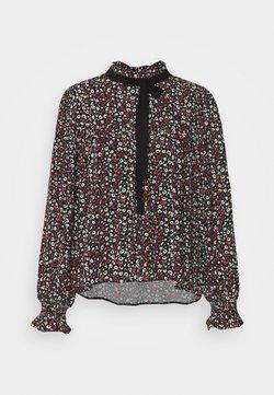 Miss Selfridge - TIE NECK VICTORIANA BLOUSE - Bluse - black
