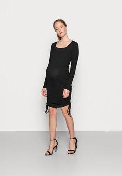 New Look Maternity - RUCHED SIDE MINI - Sukienka dzianinowa - black