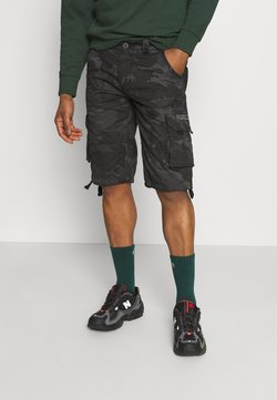 Alpha Industries - JET CAMO - Shortsit - black