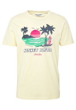 Jack & Jones - JORBECKS TEE CREW NECK  - Print T-shirt - flan