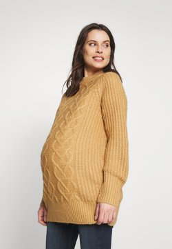 Dorothy Perkins Maternity - CABLE - Neule - camel