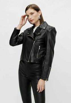 YAS - Leren jas - black