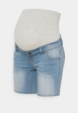 MAMALICIOUS - MLFIFTY - Jeans Short / cowboy shorts - light blue denim