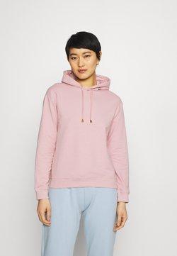 Anna Field - Basic loose hoodie with gold trim - Huppari - pink