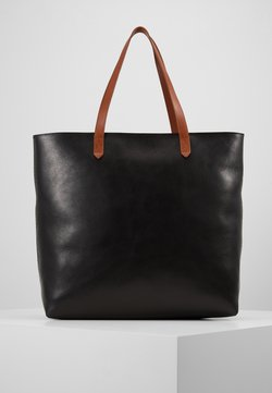 Madewell - ZIP TOP TRANSPORT TOTE - Shopping Bag - true black/brown