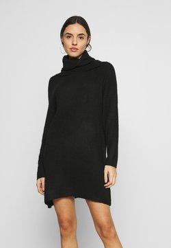 Cotton On - JULIETTE ROLL NECK MINI DRESS - Vestido de punto - black