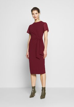 WAL G. - TIE WRAP MIDI DRESS - Sukienka koktajlowa - wine