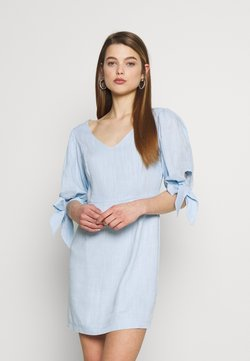 Glamorous - PUFF SLEEVE MINI DRESS - Kjole - pastel blue