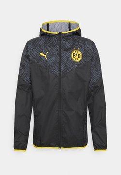 Puma - BVB BORUSSIA DORTMUND WARMUP JACKET - Vereinsmannschaften - puma black/cyber yellow