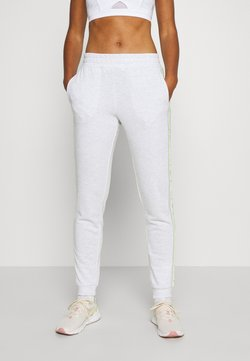 ONLY Play - ONPALYSSA PANTS - Jogginghose - white melange/saftey yellow