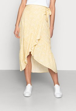 Lindex - SKIRT WENDY - A-Linien-Rock - dusty yellow