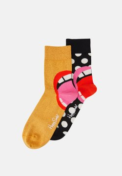 Happy Socks - LAUGH HALF CREW SOCK 2 PACK UNISEX - Socken - multi