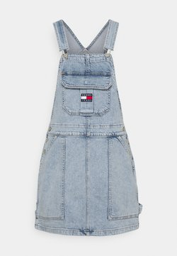Tommy Jeans - CARGO DUNGAREE DRESS - Denim dress - light-blue denim