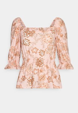 Dorothy Perkins - SQUARE NECK FAUCHETTE - Bluse - pink