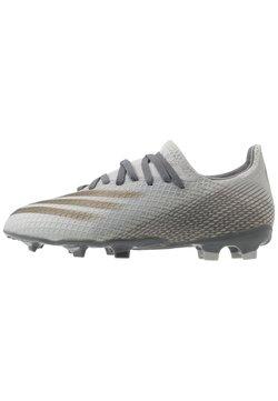 adidas Performance - X GHOSTED.3 FOOTBALL BOOTS FIRM GROUND UNISEX - Fußballschuh Nocken - grey two/metallic gold/grey four