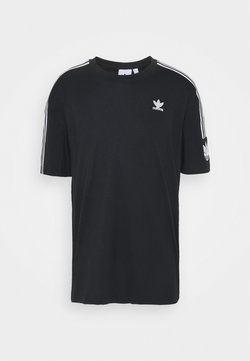 adidas Originals - UNISEX - T-shirt print - black/white