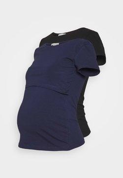 Anna Field MAMA - NURSING 2er PACK - Basic T-shirt - T-Shirt basic - dark blue/black