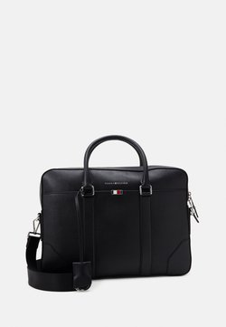 Tommy Hilfiger - BUSINESS SLIM BAG UNISEX - Aktentasche - black