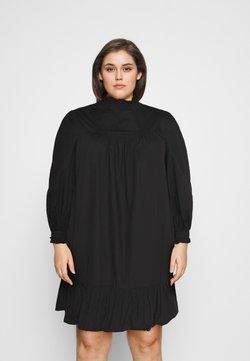 Glamorous Curve - TIE SLEEVE SMOCK DRESS - Day dress - black