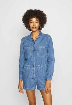GAP - UTILITY ROMPER MED CAPTAIN STRIPE - Haalari - blue