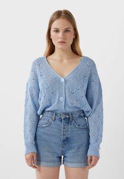 Stradivarius - MOM-FIT - Jeans Short / cowboy shorts - blue denim