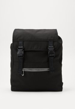Tommy Jeans - LOGO TAPE BACKPACK - Reppu - black
