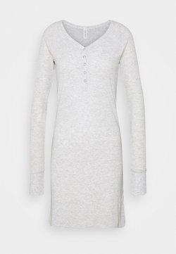 Cotton On Body - LONGSLEEVE HENLEYNIGHTIE - Nachthemd - soft grey marle