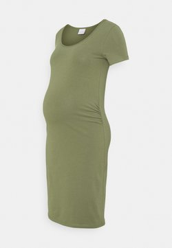 MAMALICIOUS - MLLEA DRESS - Jersey dress - olivine