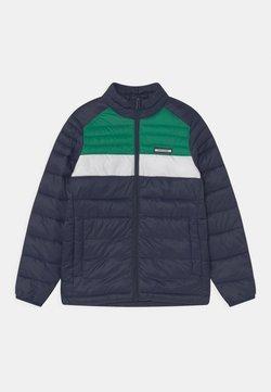 Jack & Jones Junior - JJEACE PUFFER COLLAR JR - Talvitakki - navy blazer/verdant green