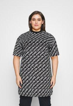 Calvin Klein Jeans Plus - Jersey dress - black/white