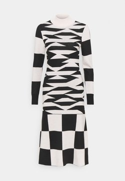 Who What Wear - ABSTRACT GEO DRESS - Vestido de punto - black/tan