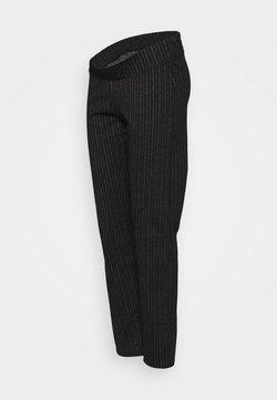 MAMALICIOUS - MLDILARA PANTS - Bukser - dark grey melange/white