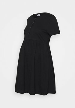 Cotton On - MATERNITY SHORT SLEEVE BABYDOLL MINI DRESS - Trikoomekko - black