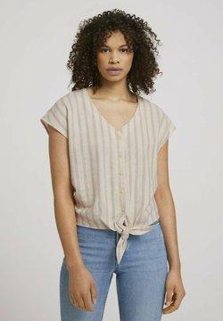 TOM TAILOR DENIM - Bluse - brown beige stripe