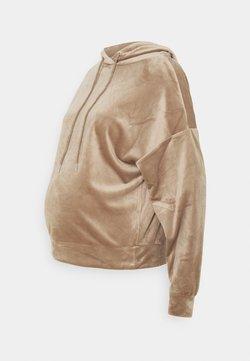 Lindex - HODDIE MOM TAYLOR  - Jersey con capucha - dark dusty beige