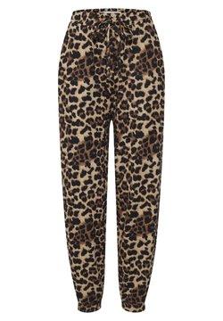 ICHI - IXANNIE - Jogginghose - black leopard