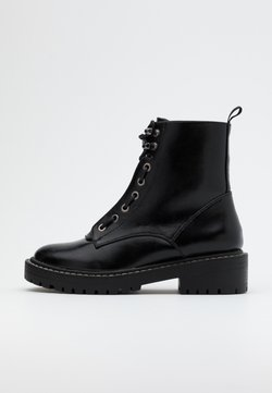 ONLY SHOES - ONLBOLD LACE UP BOOT  - Plateaustiefelette - black