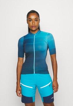 Gore Wear - WEAR FORCE WOMENS - T-shirt print - scuba blue/orbit blue
