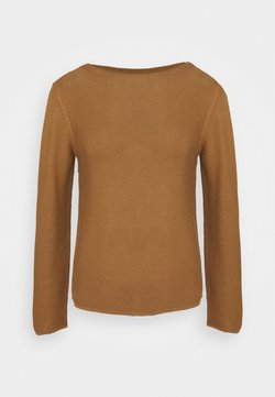 Marc O'Polo - SMALL LINKED ON COLLAR - Strickpullover - true camel