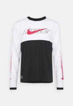 Nike Performance - Maglietta a manica lunga - black/white/light fusion red
