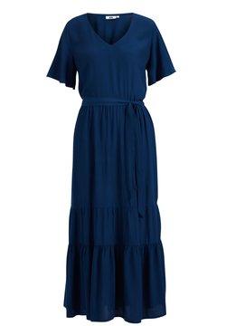 WE Fashion - MET BLOEMENDESSIN - Maxikleid - cobalt blue
