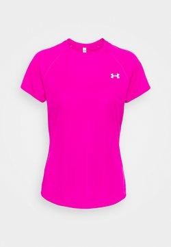 Under Armour - SPEED STRIDE SHORT SLEEVE - Camiseta estampada - meteor pink