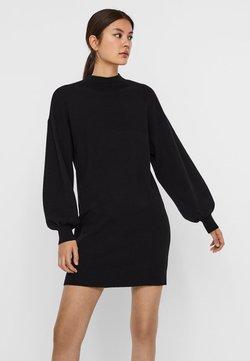 Vero Moda - STEHKRAGEN - Gebreide jurk - black