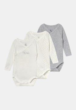 Petit Bateau - 3 PACK UNISEX - Body - white/grey