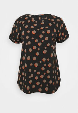 CAPSULE by Simply Be - PRINTED LONGLINE BOXY  - Top - black
