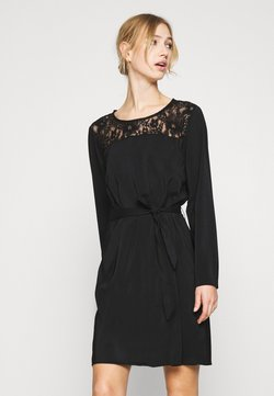 Vila - VISISA TIE BELT DRESS - Hverdagskjoler - black